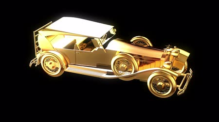Gold retro car
