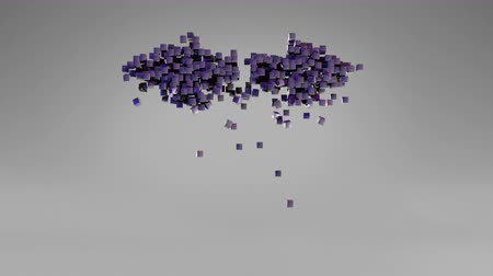 Cubes form arrows symbols. Simple 3D motion graphic. Alpha matte channel. Stock Footage
