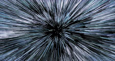 Hyperspace through dense starfield cluster