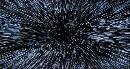 Entering hyperspace through dense starfield Stock Footage