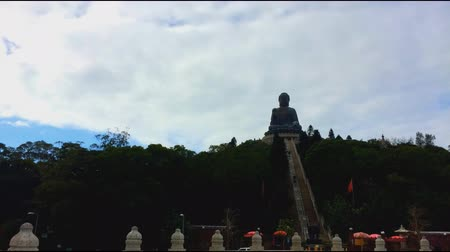 budha : The big Buddha Tian Tan Buddha in Lantau Island, in Hong Kong