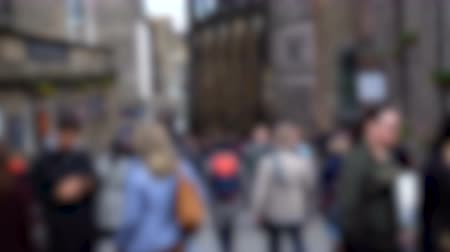 Anonymous Out of Focus Pedestrias Walking in Generic British City