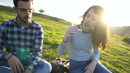 ukulele : Group of Young Diverse Friends Chatting Together While Having a Picnic out in Nature