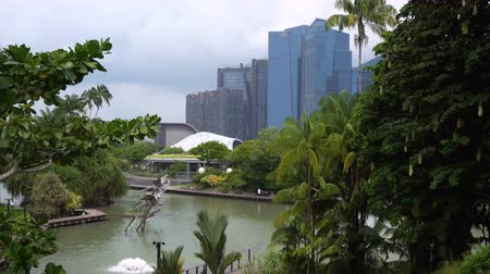 Singapore Park and Modern Skyscrapers Skyline - Commercially Usable