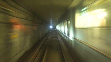 POV Timelapse of Subway Train Driving From One Station To The Next Dostupné videozáznamy