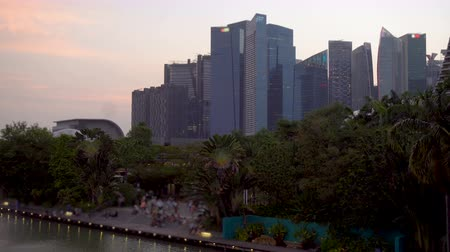 Singapore  Park and Financial District Skyscrapers City Skyline - Commercially Usable