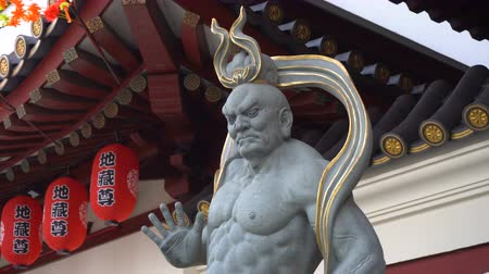 guardian : Stone Warrior Statue At Chinese Temple