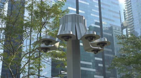 seis : Government Surveillance Spying on Citizens Concept - Many CCTV Cameras Monitoring People