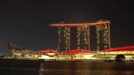 Singapore Show of Lights With Lasers From Marina Bay Sands Timelapse
