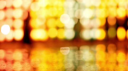 Abstract bokeh background of light from Thai lanna lantern at night.  Concepts of celebration in Yi Peng Festival.