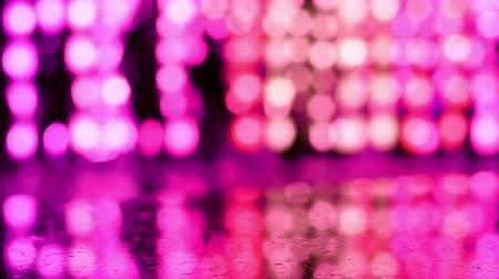 peng : Purple abstract bokeh background of light from Thai lanna lantern at night.  Concepts of celebration in Yi Peng Festival. Stock Footage