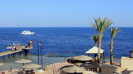 pleasure boats in the Red Sea Egypt Sharm el Sheikh