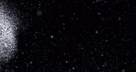 Snowfall on a black background
