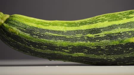 zucchini squash footage, sliding camera movement