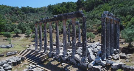 seljuk : Aerial View of Historical Places - Euromos Ancient Temple
