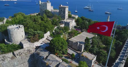 seljuk : Aerial View of Historical Places - ST. PETERS CASTLE IN BODRUM