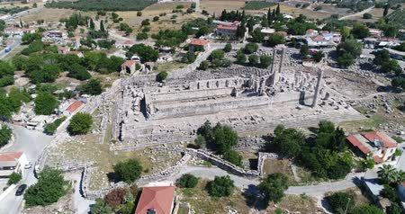seljuk : Aerial View of Historical Places - Aerial of the Temple of Apollo at Didyma