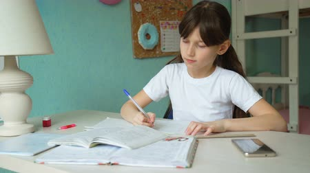 reménytelen : disappointment in education. girl tired of doing mathematics lessons. give up