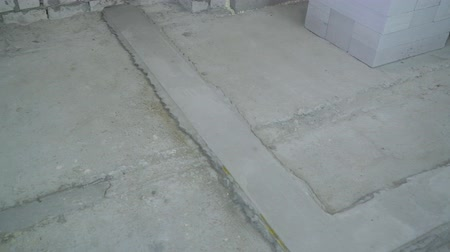 каменная кладка : concrete basement prepared for further setting of brick wall