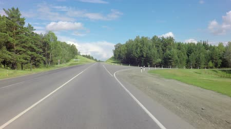 thoroughfare : Traveling on the route of the Altai Krai.
