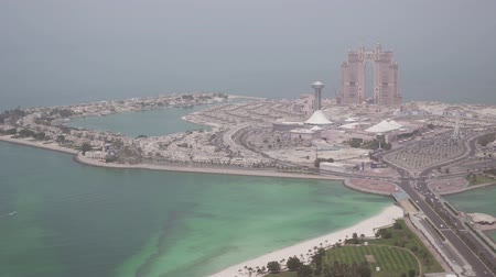 távcső : Beautiful top view of the Abu Dhabi stock footage video