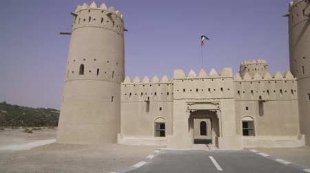 yemen : Ancient fort in the desert of Liwa United Arab Emirates stock footage video Stock Footage