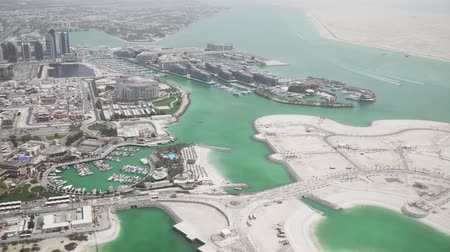 pozorování : Beautiful top view of the Abu Dhabi stock footage video
