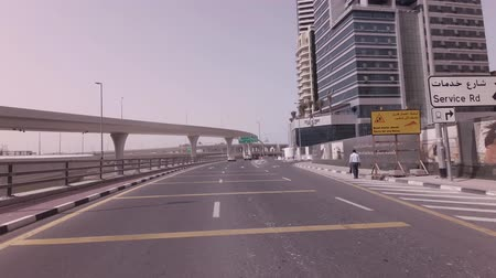 Dubai, UAE - April 04, 2018: Modern multi-level road junctions in Dubai stock footage video