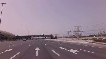 Dubai, UAE - April 03, 2018: Underground station on the Sheikh Zayed Road in Dubai stock footage video