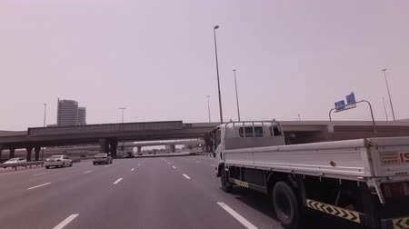 Dubai, UAE - April 03, 2018: Modern road junctions in Dubai stock footage video Stockvideo