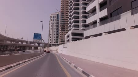 úroveň : Dubai, UAE - April 03, 2018: Modern multi-level road junctions in Dubai stock footage video