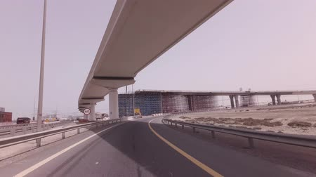 Dubai, UAE - April 03, 2018: Construction of new multi-level road junctions in Dubai stock footage video
