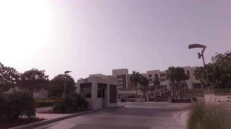 Abu Dhabi, UAE - April 04, 2018: Car trip to the hotel Park Hyatt in Abu Dhabi stock footage video