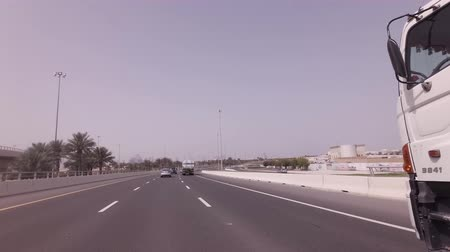 Dubai, UAE - April 08, 2018: Road view stock footage video 影像素材