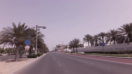 Abu Dhabi, UAE - April 04, 2018: Car travel on the roads of the capital Abu Dhabi stock footage video
