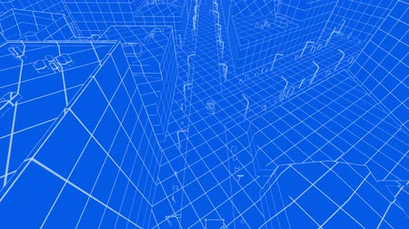 blueprint : Abstract blueprint of contemporary buildings and traffic cars