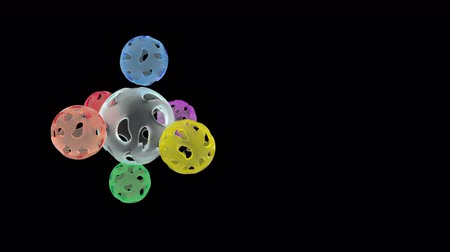 bola de fogo : Abstract colour balls able to loop Stock Footage