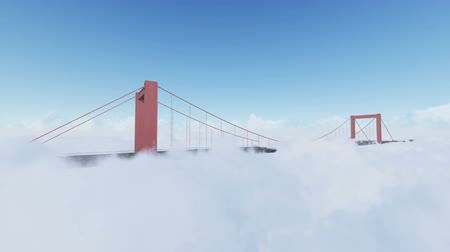 gates : The bay bridge sunrise above clouds