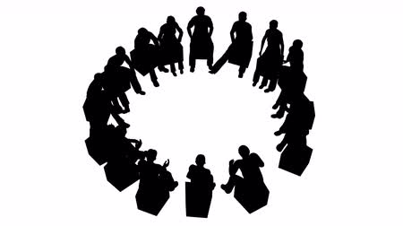 counselling : Group of people sitting in a circle Stock Footage