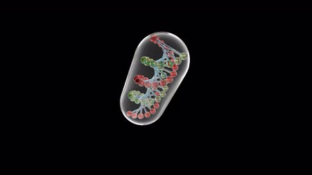 dna strings : Glass capsule with DNA able to loop
