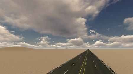 motivados : Straight asphalt road in the desert