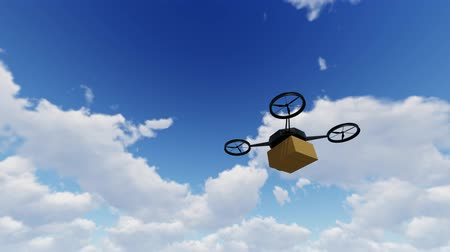 unmanned aircraft : A small drone delivers a package