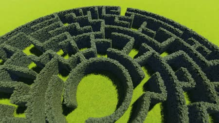 folha : Hedge maze in city park