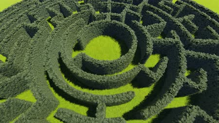 paisagem urbana : Hedge maze in city park