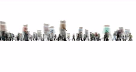 crowded : Crowd of People on White Motion Blur Style
