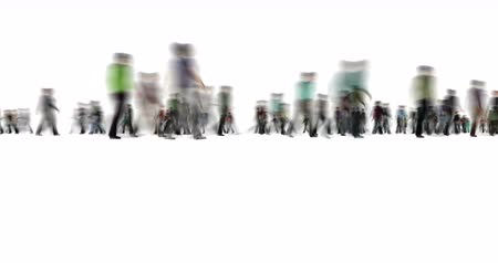 mistrovství : Crowd of People on White Motion Blur Style