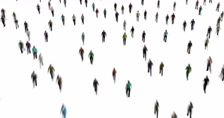 Crowd of People on White Motion Blur Style