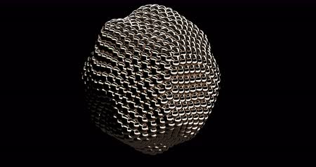 fizik : Intro Abstract Gold Metaball Sphere Object Stok Video