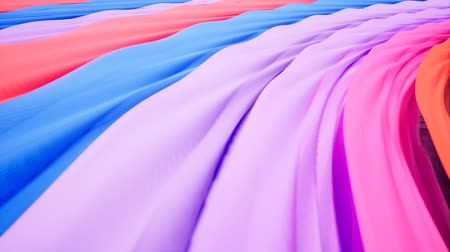 Colorful wave animation.. Future geometric patterns motion background.