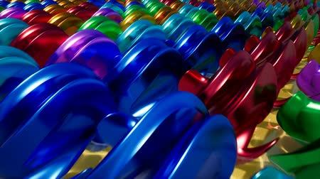 Abstract color metal stuff intro for your video